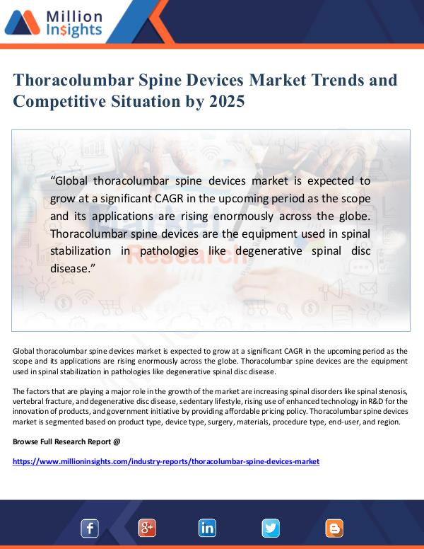 Thoracolumbar Spine Devices Market Trends and Comp