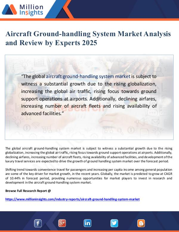 Aircraft Ground-handling System Market Analysis an