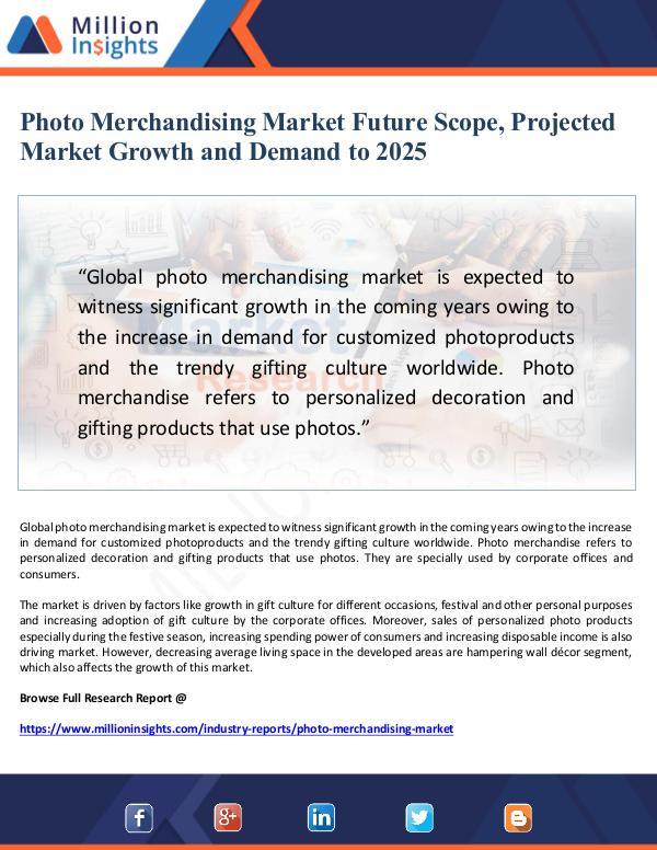 Future Scope of Photo Merchandising Market and Pro