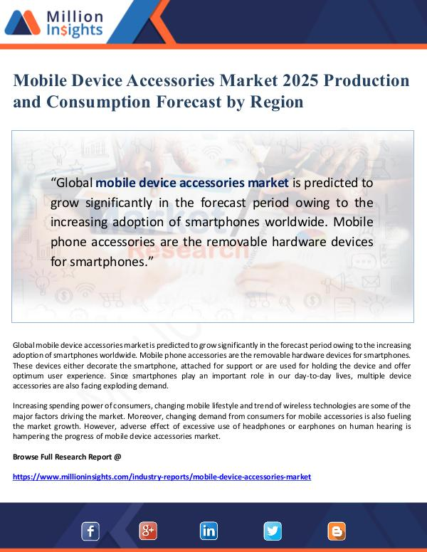 Mobile Device Accessories Market Production Foreca