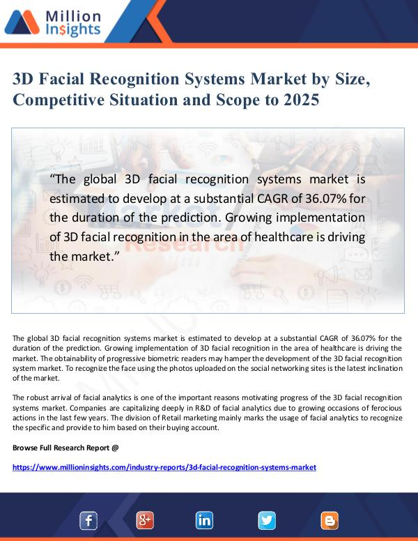 3D Facial Recognition Systems Market Scope and Com