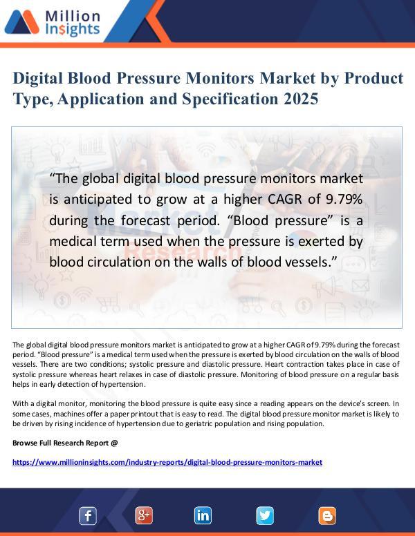 Digital Blood Pressure Monitors Market Application
