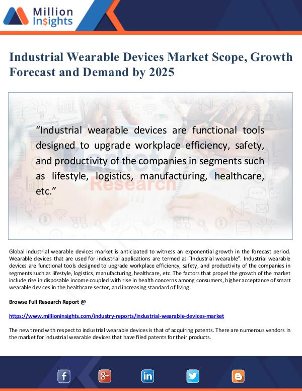 Industrial Wearable Devices Market Scope and Deman