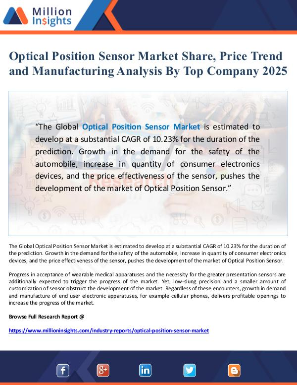 Global Research Optical Position Sensor Market Share and Price Tre