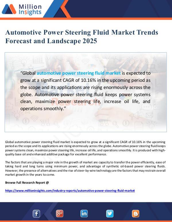 Automotive Power Steering Fluid Market Landscape 2