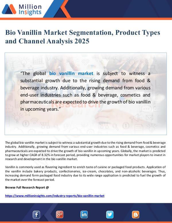 Bio Vanillin Market Segmentation and Channel Analy