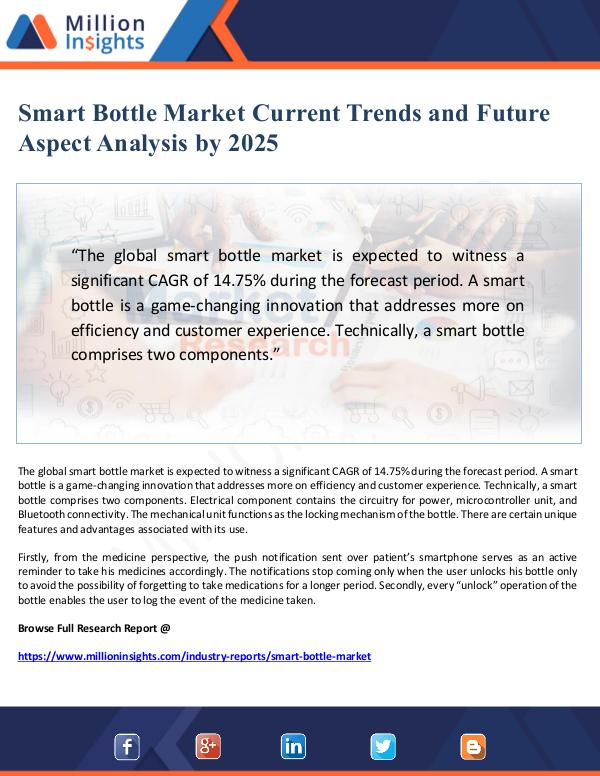 Smart Bottle Market Current Trends Analysis by 202