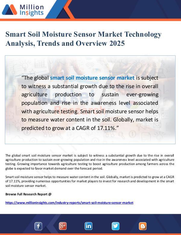 Global Research Smart Soil Moisture Sensor Market Technology Analy