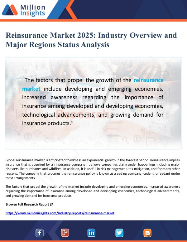 Reinsurance Market Overview and Status Analysis 20