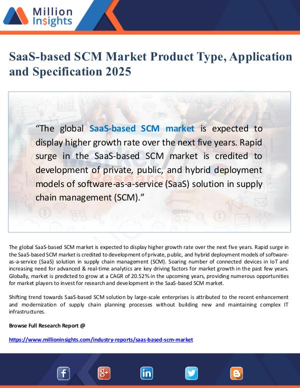 SaaS-based SCM Market Product Type, Application an