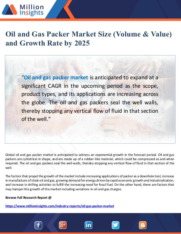 Oil and Gas Packer Market Size and Growth Rate by