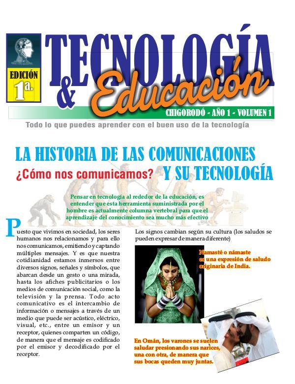 TECNOLOGÍA Y EDUCACIÓN REVISTA TECNOLOGIA