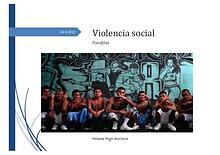 violencia social: pandillas