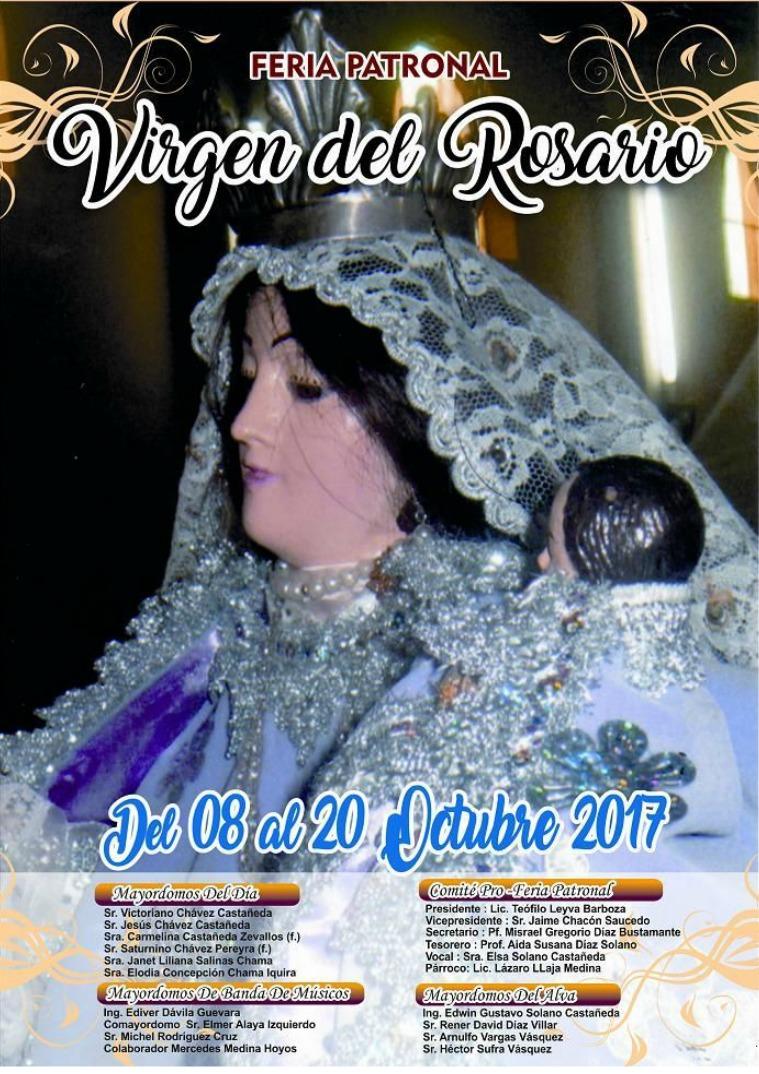 chalan fiesta patronal del 08 al 21 de octubre 2017