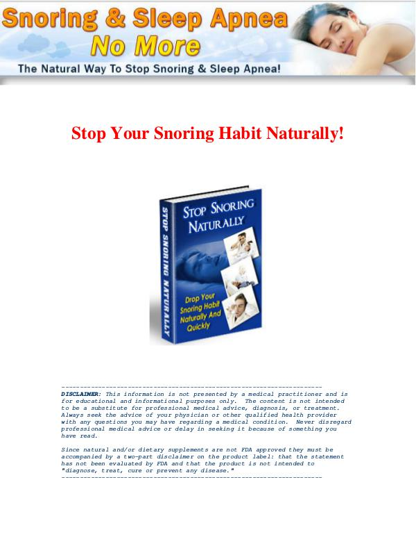 Snoring & Sleep Apnea No More PDF / Book Free Download Snoring & Sleep Apnea No More By David Ortega