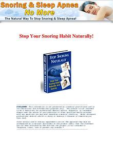 Snoring & Sleep Apnea No More PDF / Book Free Download