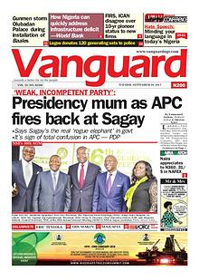 Presidency mum as APC fires back at Sagay