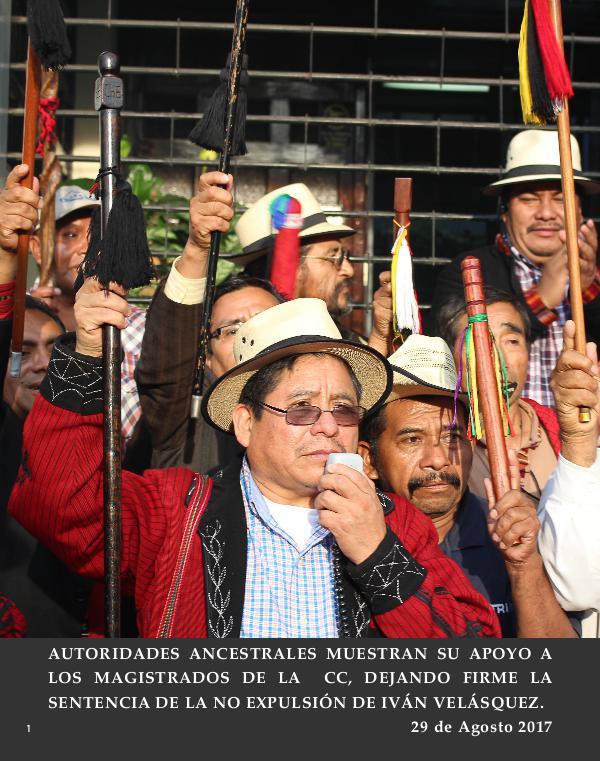AA apoyan a CICIG y MP, 29 Agosto 2017