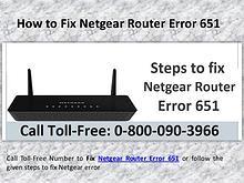 Steps to fix Netgear router Error Code 651 Call 0-800-090-3966