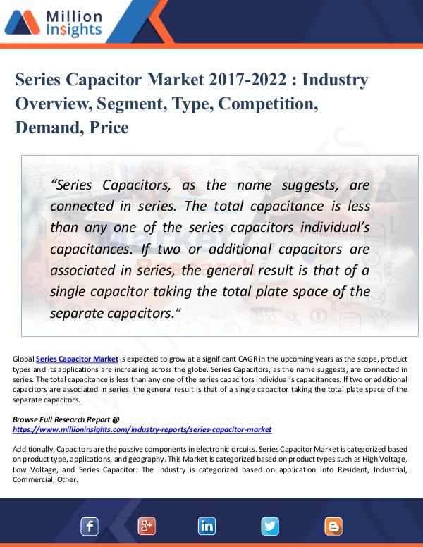 Market New Research Series Capacitor Market 2017-2022 - Industry Trend
