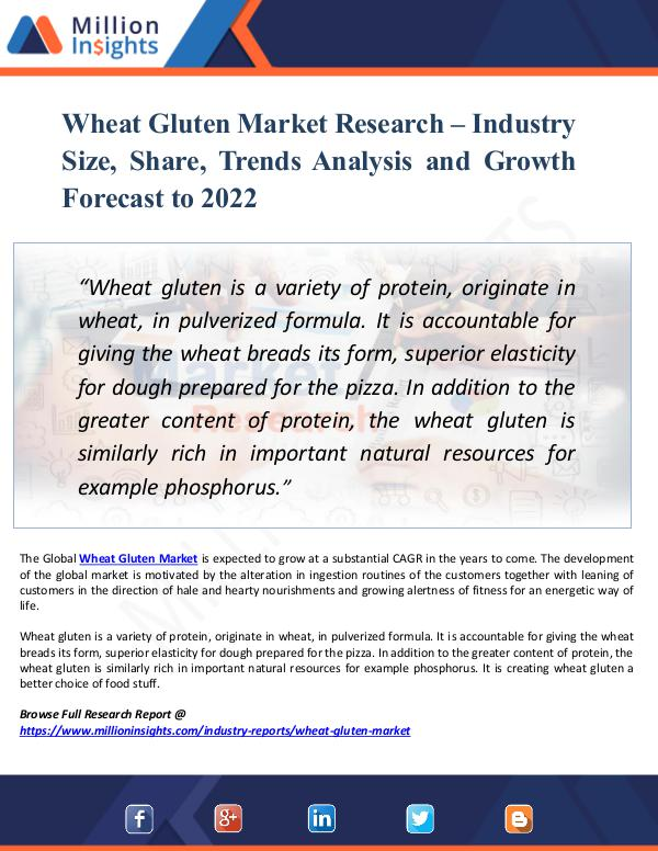 Market New Research Wheat Gluten Market Research – Industry Size 2022