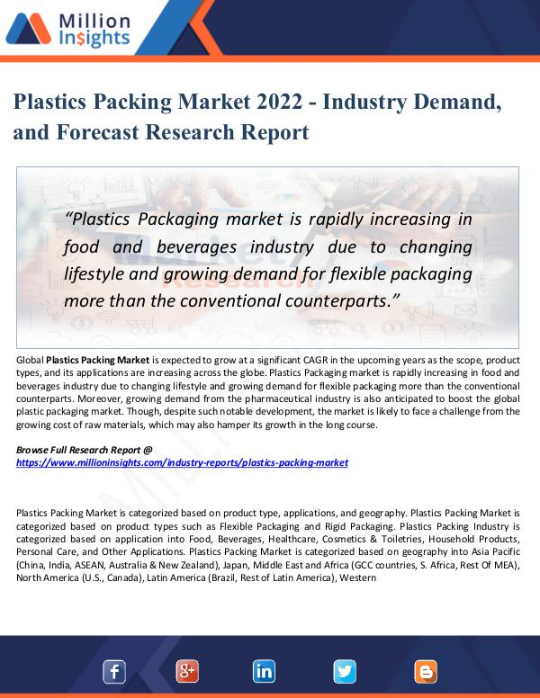 Market New Research Plastics Packing Market 2022 - Industry Demand