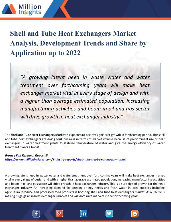 Market New Research Shell and Tube Heat Exchangers Market Report 2022