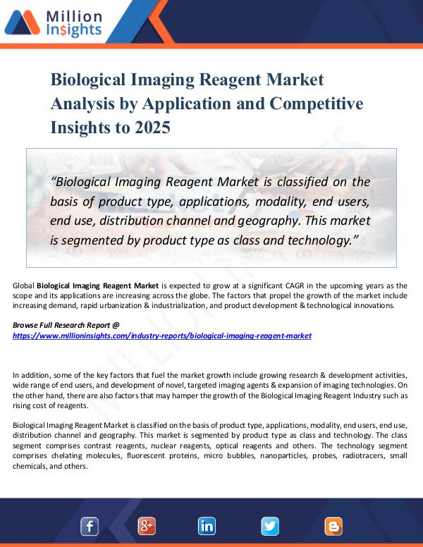 Market New Research Biological Imaging Reagent Market Analysis 2025