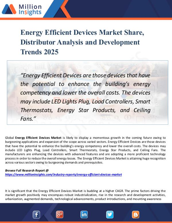 Market New Research Energy Efficient Devices Market Share, Distributor