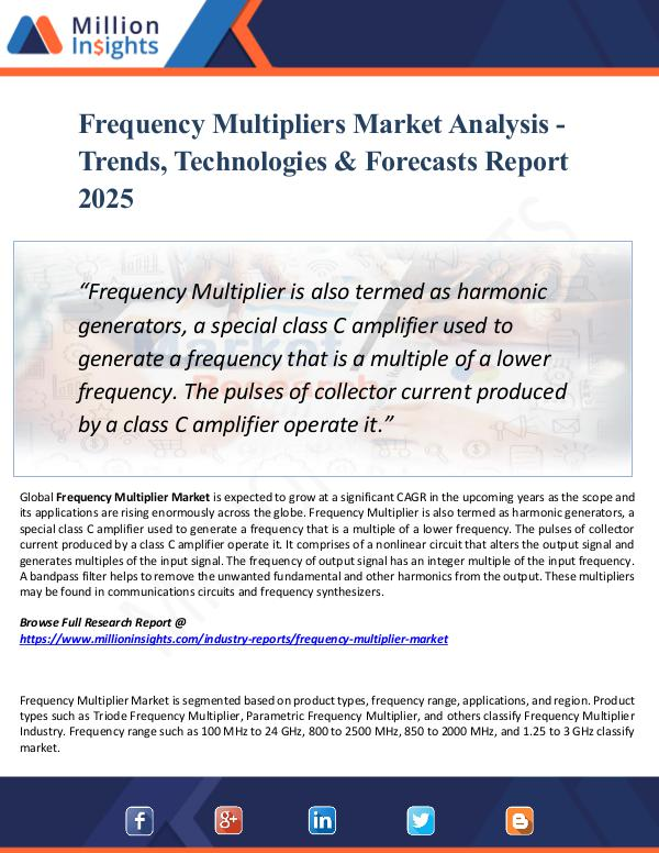 Market New Research Frequency Multipliers Market Analysis - Trends