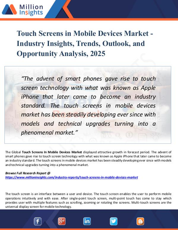 Market Research Analysis Touch Screens in Mobile Devices Market 2025