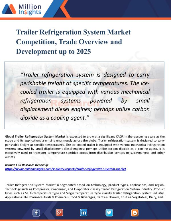 Market Research Analysis Trailer Refrigeration System Market Competition,