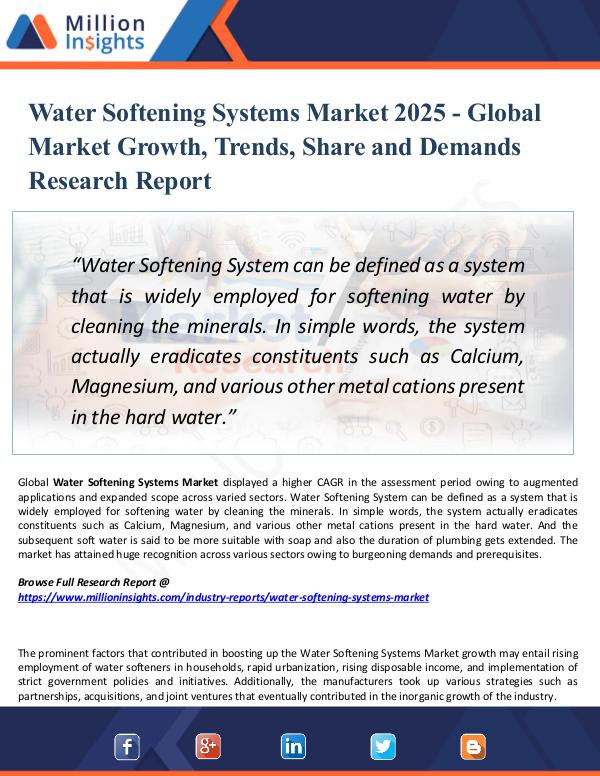 Market Research Analysis Water Softening Systems Market 2025 - Share,Trend