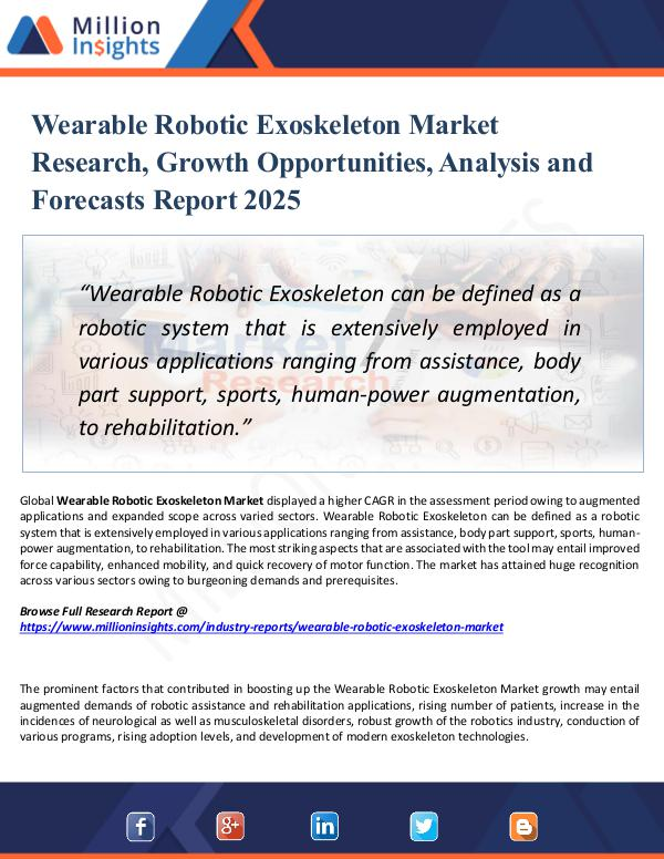 Market Research Analysis Wearable Robotic Exoskeleton Market Research 2025