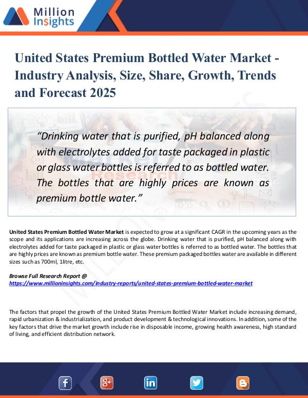 Market Research Analysis United States Premium Bottled Water Market 2025
