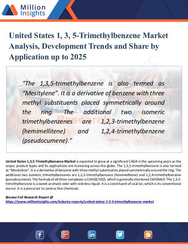 Market Research Analysis United States 1, 3, 5-Trimethylbenzene Market 2025