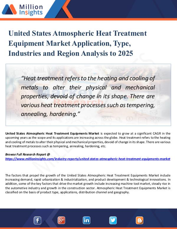 Market Research Analysis United States Atmospheric Heat Treatment Equipment