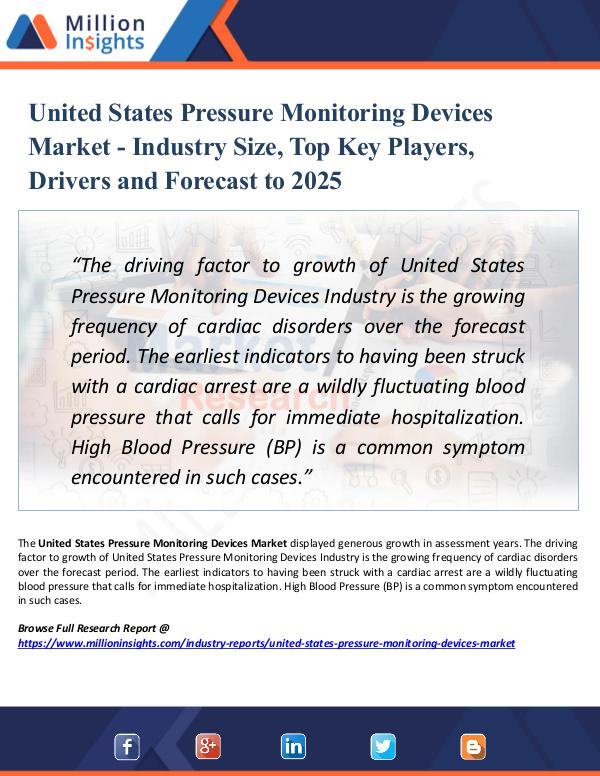 Market Research Analysis United States Pressure Monitoring Devices Market