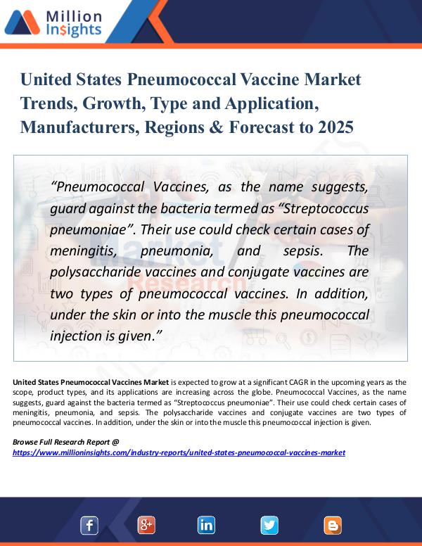 Market Research Analysis United States Pneumococcal Vaccine Market Trends