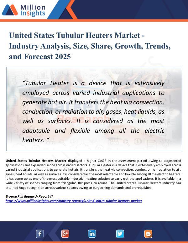 Market Research Analysis United States Tubular Heaters Market Share 2025
