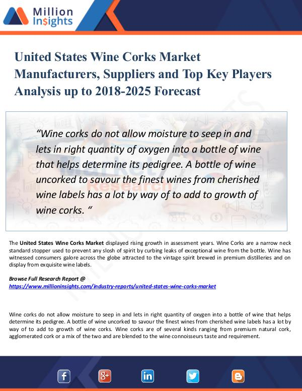 Market Research Analysis United States Wine Corks Market Manufacturers 2025