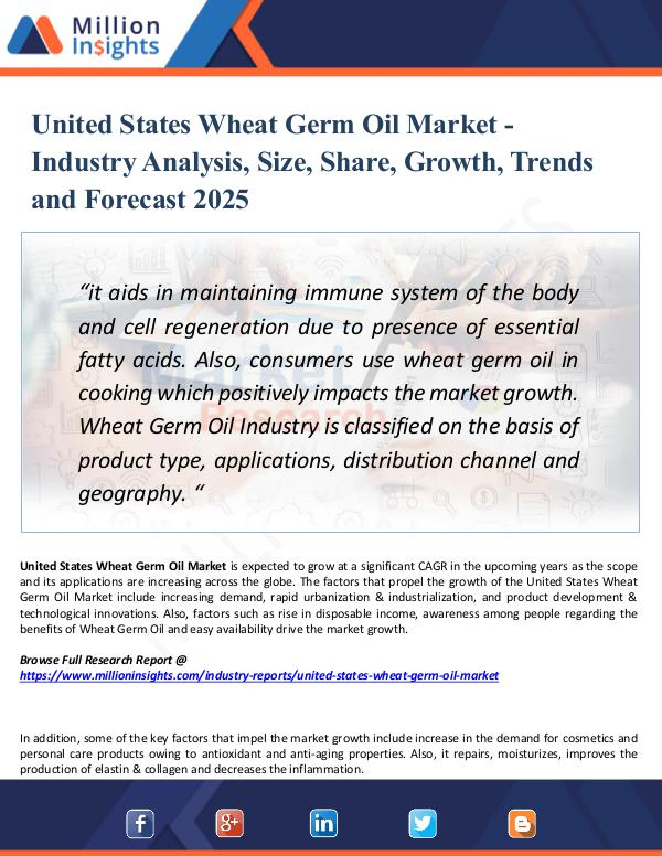 Market Research Analysis United States Wheat Germ Oil Market Growth