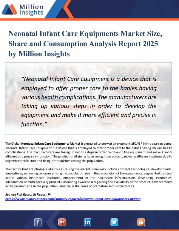 Market Research Analysis Neonatal Infant Care Equipments Market Size, Share
