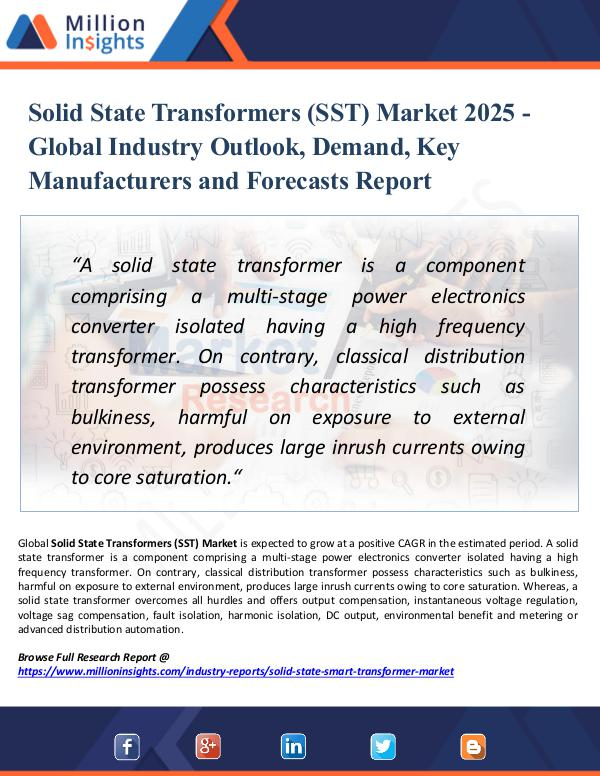 Market Research Analysis Solid State Transformers (SST) Market 2025 - Share