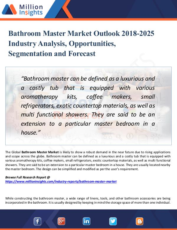 Market Research Analysis Bathroom Master Market Outlook 2018-2025