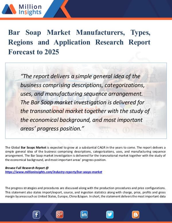 Market Research Analysis Bar Soap Market Manufacturers, Types, Regions 2025
