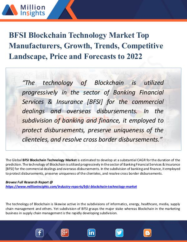 Market Research Analysis BFSI Blockchain Technology Market Top Manufacturer