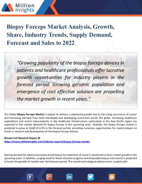 Market Research Analysis Biopsy Forceps Market Analysis, Growth, Share