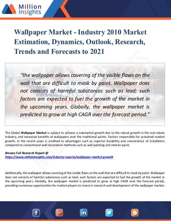 Market Research Analysis Wallpaper Market - Industry 2010 Market Estimation