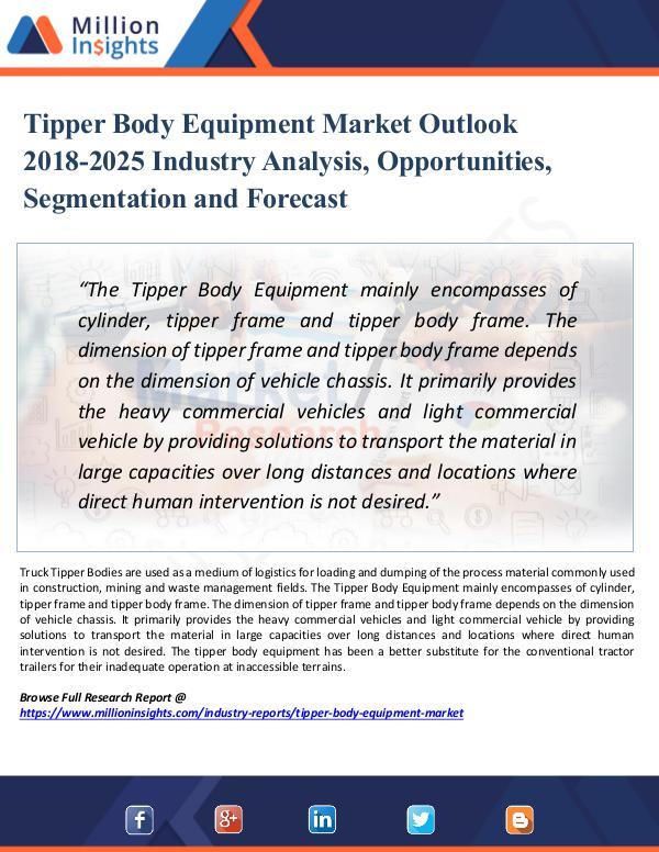 Market Research Analysis Tipper Body Equipment Market Outlook 2018-2025